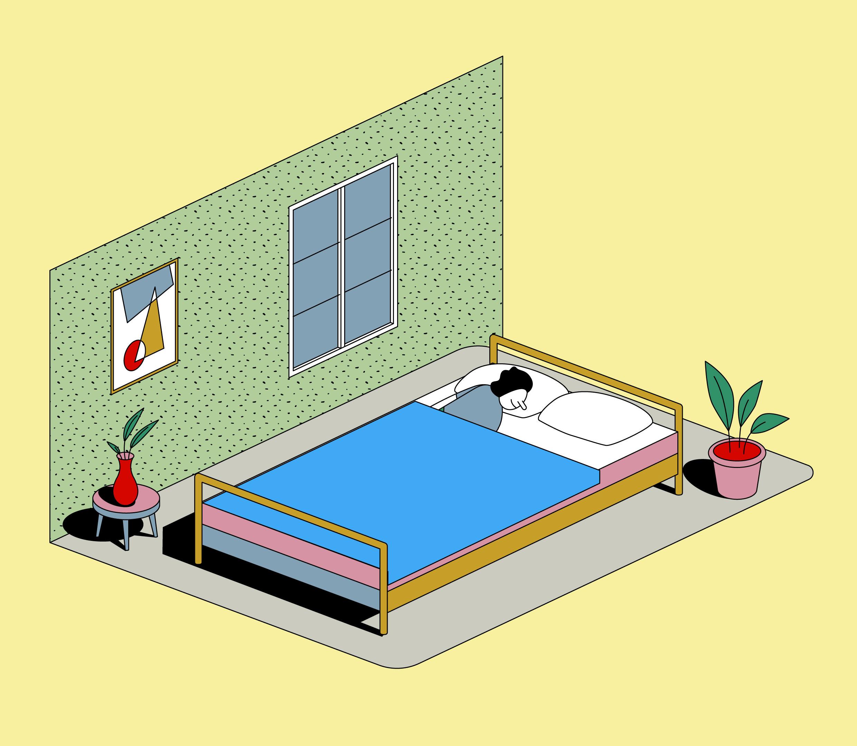 ¿Se puede dormir con una planta en el dormitorio?